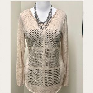 Vocal Ivory Bling Top Size XL